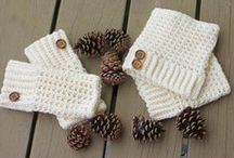 crocheted mittens, hats & gloves