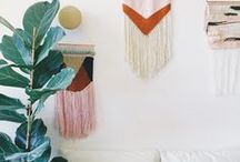 _ Weaving and other wall hangings