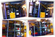Indoor Playground - Treehouse / Treehouse themed indoor playground and children's ministry space.