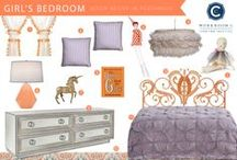Room Recipe Persimmon Bedroom / Girl's Room / by Workroom C by Carolyn Rebuffel Designs