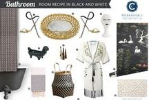 Room Recipe: Black and White / by Workroom C by Carolyn Rebuffel Designs