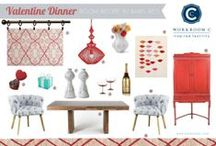 Room Recipe Barn Red Dining Room / Valentine Dinner / by Workroom C by Carolyn Rebuffel Designs