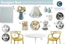 Room Recipe Robin's Egg Blue Breakfast Nook / by Workroom C by Carolyn Rebuffel Designs