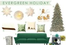 Room Recipe Evergreen Holiday / Holiday Decor / by Workroom C by Carolyn Rebuffel Designs