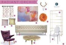 Room Recipe Radiant Orchid Pantone 2014 / Radiant Orchid  / by Workroom C by Carolyn Rebuffel Designs