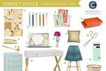 Room Recipe Curry Office / Office decor for a GIRL BOSS / by Workroom C by Carolyn Rebuffel Designs