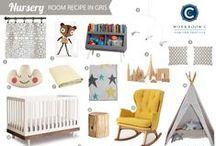 Room Recipe Gris Nursery / Grey and yellow nursery / by Workroom C by Carolyn Rebuffel Designs