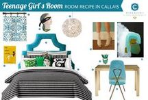 Room Recipe: Callais / Teenaged Girl's Bedroom / by Workroom C by Carolyn Rebuffel Designs