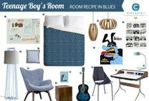 Room Recipe: Sky Blue / Teenage Boy's Room / by Workroom C by Carolyn Rebuffel Designs