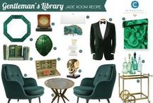 Room Recipe: Jade / Room Recipe: Gentleman's Library in Jade