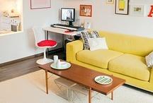 Interior design / Selection of inspirational interior photos. Scandinavian design, mid century modern and shabyb chic.