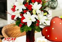 Valentine's Day Flowers / Valentine's Day flowers, recipes and cute and romantic decorating ideas!   View more here: http://bit.ly/2jGYuWc