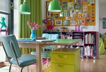 Spaces :: creative / Craft, sewing, art studio room inspiration