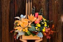 Fall Flower Arrangements / A bouquet of fall flowers is filled with rich and radiant colors taken from nature's bounty. There's no better way to celebrate the changing of the autumn leaves. Teleflora's arrangements capture the beauty of the season.