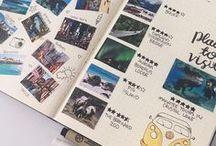 Mochila • Journals  Diarios / Ideas para hacer tus diarios de viajes, listas para organizar las cosas que quieres hacer en tu viaje, fotos, recuerdos, pensamientos, bullet journals.