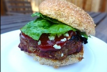 Organic Spicy Chipotle Beef Burgers with Blue Cheese Crumbles / Like a little heat in your meat? These burgers will surely meet your needs!