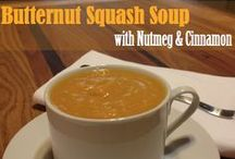 Butternut Squash Soup / As soon as the weather starts getting cold, my mind goes to food.  I immediately start to mentally tally all the fall comfort classics I want to start making (and freezing) for the upcoming winter months.  Inevitably, one of the first items on my list is this Butternut Squash Soup.