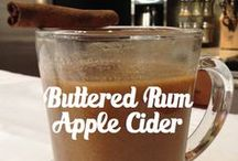 Hot Buttered Rum Apple Cider / NOTE: This cocktail is best enjoyed while strolling through the neighborhood looking at Christmas lights, wrapping presents in the wee hours of the night or simply snuggling up on the couch and watching your favorite Christmas movie.  Serves: 8-16   Time Required: 10 minutes plus time for spiced butter to firm in refrigerator. Then, 5-10 minutes to warm apple cider and melt butter in cider.