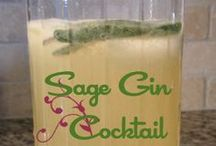 Sage Gin Cocktail / This cocktail is light, crisp and refreshing. A great accompaniament to a festive holiday dinner. Make the simple syrup in advance and you can assemble the drink within minutes.  Enjoy!