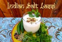 Indian Salt Lassi / A Salt Lassi is a popular summer drink from India.  This refreshing cooler is enjoyed during the hot summer months and can help aid in digestion.