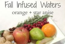 Fall Infused Waters / Infused waters are a great way to add some flavor to your daily water. Check out these recipes and video on how to make these infusions.