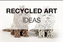 Recycled Art Projects & Ideas / Our creative art board, all kind of art around recycled and upcycled ideas! It's all about art & recycling!