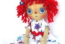 My Primitive Raggedy Ann Dolls / Dolls that I've created for my Doll shop. http://www.etsy.com/shop/cottoncandydolls