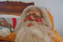 The Best Guide to Belznickels or Old-Fashioned Santa Caricatures / The German St. Nikolaus, Christmas Gift-Bringer also called Belschnickel, Belznickle, Belznickel, Pelznikel, Pelznickel, is a crotchety, fur-clad character in the folklore of the Palatinate region of southwestern Germany. He was brought to the U.S. by the Pennsylvania Dutch immigrants. / by Kathy Grimm