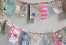 DIY: all season BUNTINGS, GARLAND, ORIGAMI, Mobiles / paper, cloth, christmas, holidays, childrens, vintage / by Grayce Blair