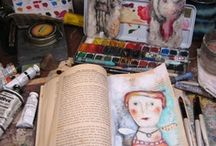 Art Journals, Mixed Media, Collage / Sketchbooks, art journals, canvas' ... oh my!