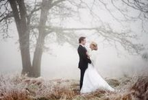 Bride in the snow. / by Randi Marie Photography