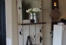 D.I.Y. Recycle Reuse Redo Every little thing! / wall art, wall hooks, chalk paint, old doors, boards, storage bins, crates, furniture redo, outdoor things, old rakes, old utensils, bottles, / by Grayce Blair
