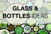 Glass & Bottles Crafts & Ideas / Everything made with broken, recycled, reused or repurposed glass, bottles, mason jars or insulators!