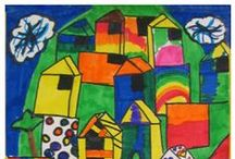 Art Is Elementary / I will include elementary art assignment ideas for preschool through 6th grade here. All photos are my own so visitors may pin these projects freely. / by Kathy Grimm