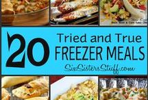 Freezer Cooking / freezer meals | freezer cooking | frozen meal recipes