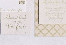 GOUD // Gold wedding stationery