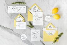 GEEL // Yellow wedding stationery