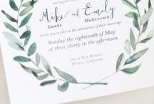 GROEN // Green wedding stationery