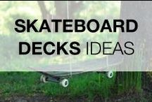Skateboard Decks Art Design & DIY / Don't know what to do with all those old and unusable skateboard decks? You will find on this board some ideas to recycle, upcycled & repurpose them!