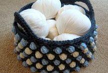 crochet - bags/baskets