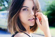 Hair Inspo / Short hair inspiration, short hair styles, lobs, long bobs, ombre hair, brunette, dark hair.