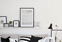Frames & gallery wall / Inspiration to make a frame feature wall, home decor, picture ledges, ikea.