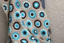 crochet - blankets, granny square sunbursts