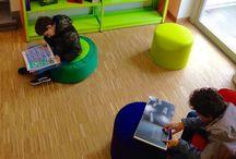 Centre de littérature hainuyère / Le centre de littérature est installé au premier étage, il regroupe tous les ouvrages publiés par des auteurs hainuyers, ainsi que les fonds d'auteurs (Charles Plisnier, Claire Lejeune, etc.). Le centre développe des ateliers d'écriture, accueille des conférences et expositions, etc.