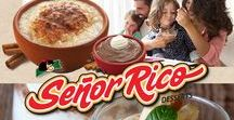 Señor Rico / Authentic Hispanic desserts including creamy rice pudding, caramel flan, rich chocolate pudding, and fruity gelatins and parfaits. Sweet family traditions inspired by authentic recipes.