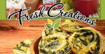 Fresh Creations / Fresh Creations® dips are made from classic deli inspired recipes that incorporate garden fresh vegetables, real sour cream and mayonnaise, Monterey Jack and Parmesan cheeses.