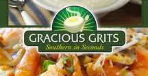 """Gracious Grits / Gracious Grits® are nutritious, delicious and have zero Trans Fats. We make our grits in small batches and the highest standards available. You will be """"Southern in Seconds®"""" when you serve Gracious Grits® to family and friends for breakfast, lunch or dinner!"""