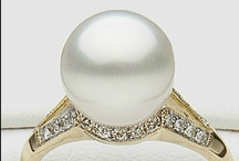 Pearl Rings / South Sea pearl rings with diamonds