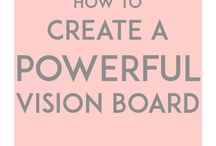 Vision Board Ideas / Learn all about how to put together your vision board for success.