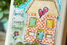 Mixed Media Art / Mixed Media Art.. I love this form or artwork. It can be used for so many projects. So many inspirations found here!  / by Jennifer Colgan